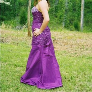 Purple Sequin/Beaded Prom Dress